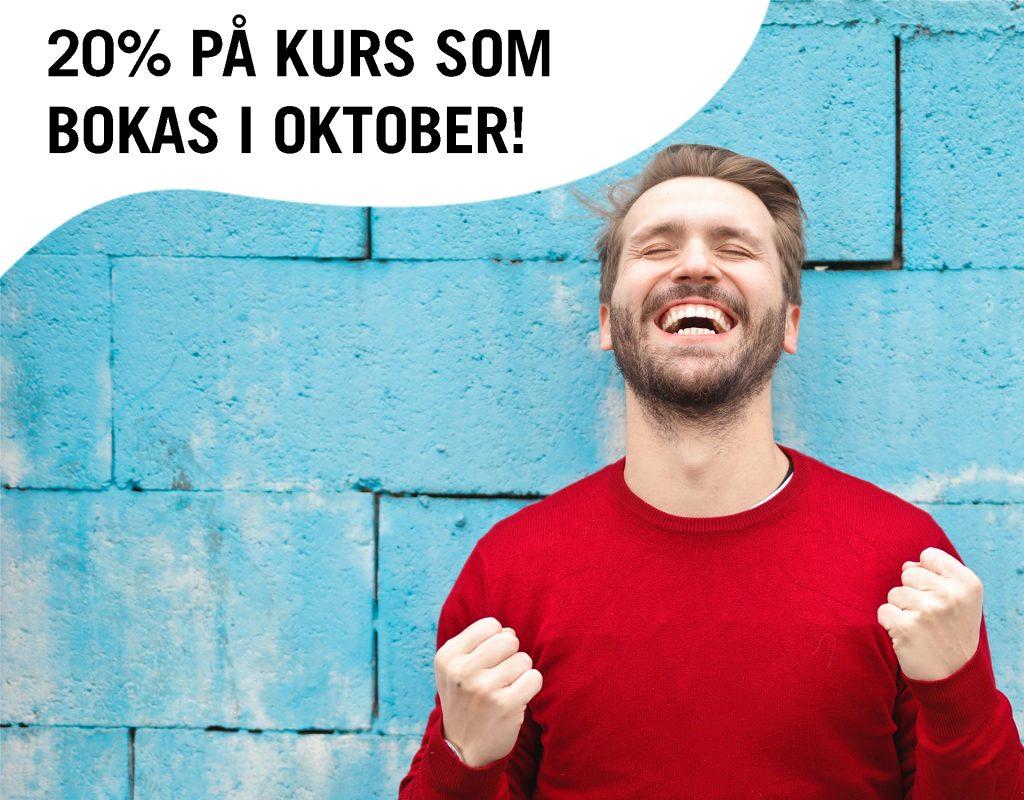 20% rabatt på kurser i oktober